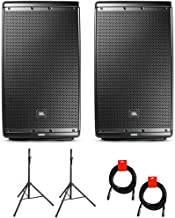 "$1097 » Sponsored Ad - JBL EON615 Two-Way 15"" 1000W Powered PA Speaker, Bluetooth (Pair) Bundle with 2x Speaker Stand & 2x XLR Cable"