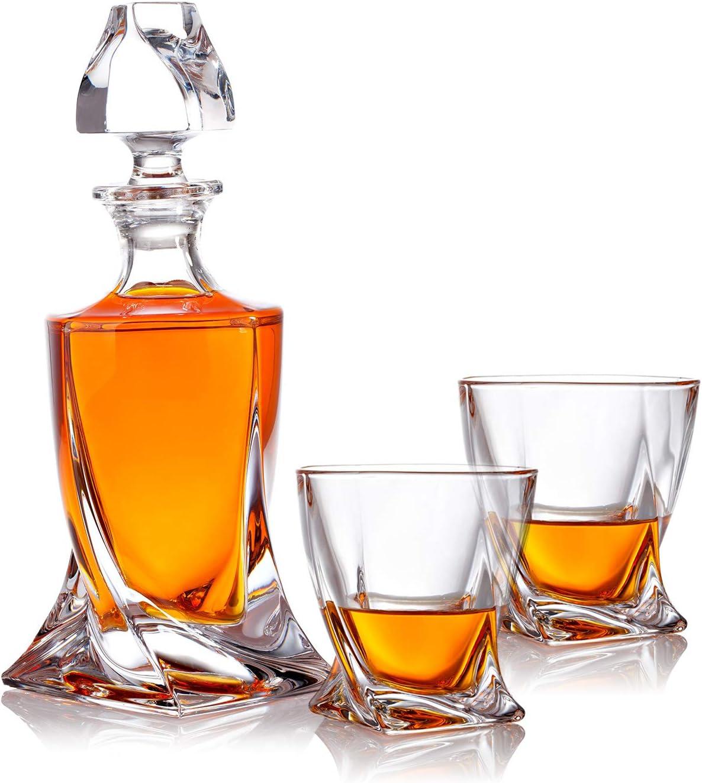 Set de Regalo con Efecto Polar, Botella de Whisky y Vaso de Whisky.