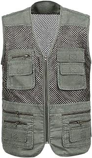 Men Classic Multi Pockets Outdoor Work Fishing Travel Photo Vest