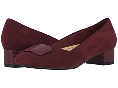 Trotters Delse (Dark Red Micro) Women