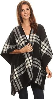 LL Blanket Open Front Poncho Ruana Knit Cardigan Sweater Shawl Wrap Many Styles