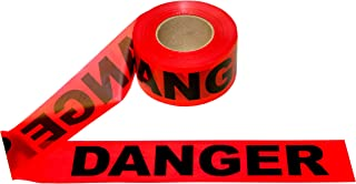 Cordova Safety Products Pro Pack Danger Barricade Tape - Set of 12 Rolls - Each Roll Measures 3