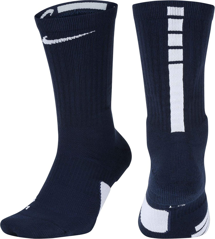 It is very popular NIKE Over item handling ☆ Elite Basketball Crew Midnight Navy Socks White