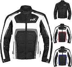 HWK Textile Motorcycle Jacket Motorbike Jacket Biker Riding Jacket Cordura Waterproof CE Armoured Breathable Reissa Membrane - Removable Thermal lining - 1 YEAR WARRANTY!! (Large, Grey)