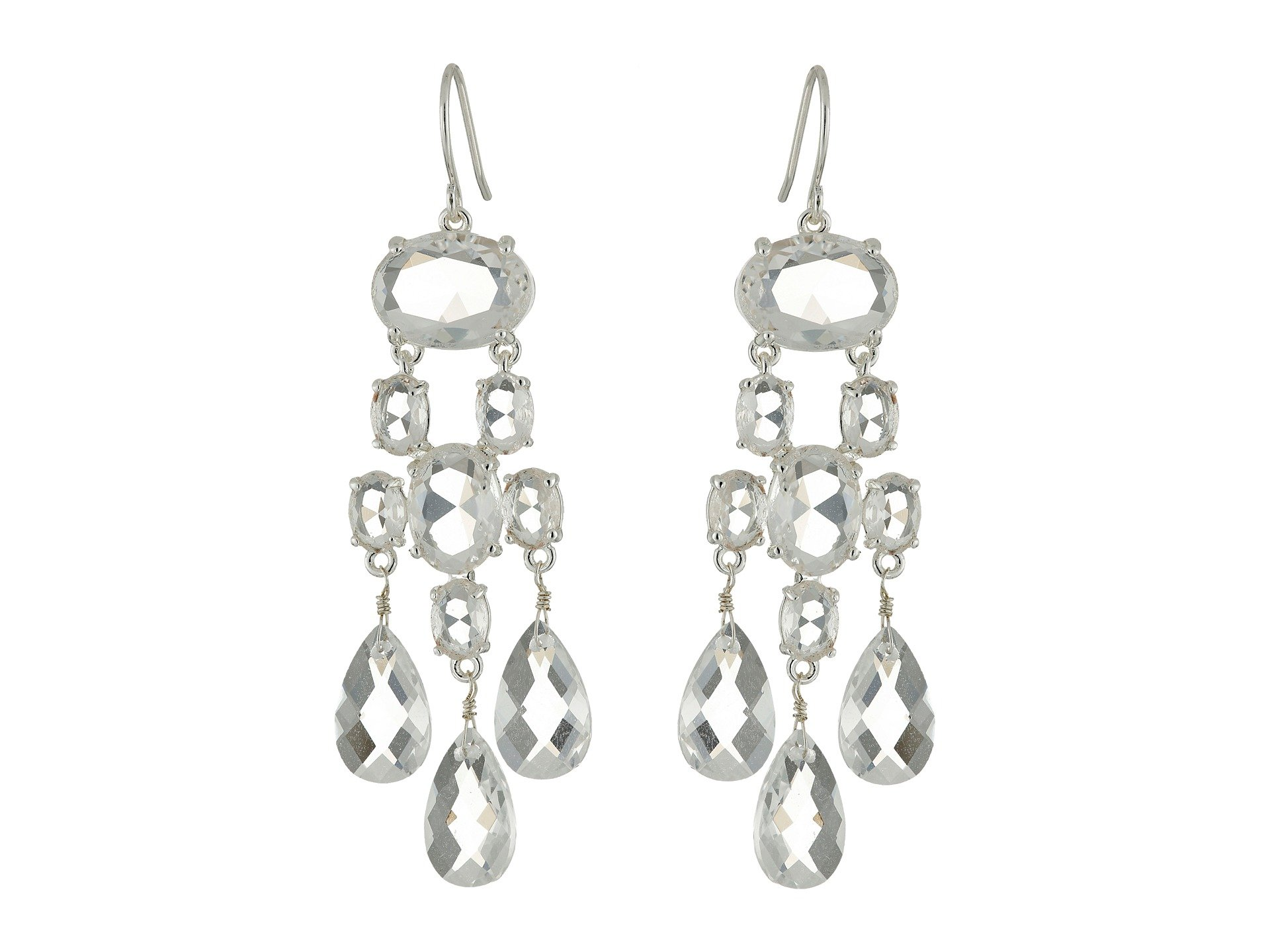 LAUREN Ralph Lauren Faceted Stones Chandelier Earrings at Zappos