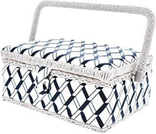 Sewing Basket Organiser For Needles, Pins, Tape Measure, Thimbles and More by Juvale