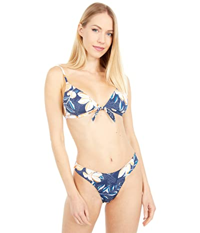 Roxy Lilies Surf Fixed Tri Bikini Top (Mood Indigo Happy Day) Women