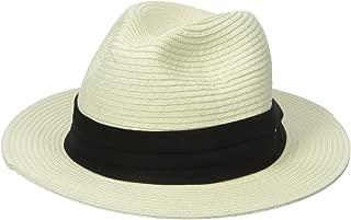 Scala Men's Paper Braid Safari Hat with Black Band