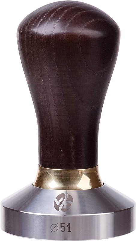 Tamper Espresso Tamper 51mm Tamper Coffee Tamper Premium Series Coffee Press Tool Tamper Espresso Stainless Steel Espresso Tamper Handle Solid Wood Pressure Base Tampers Venge 51mm