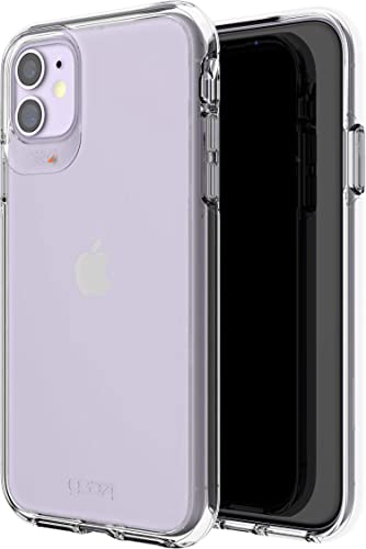 popular GEAR4 Crystal Palace Compatible with iPhone 11 Case, discount Advanced Impact Protection with Integrated outlet online sale D3O Technology, Anti-Yellowing, Phone Cover – Transparent online