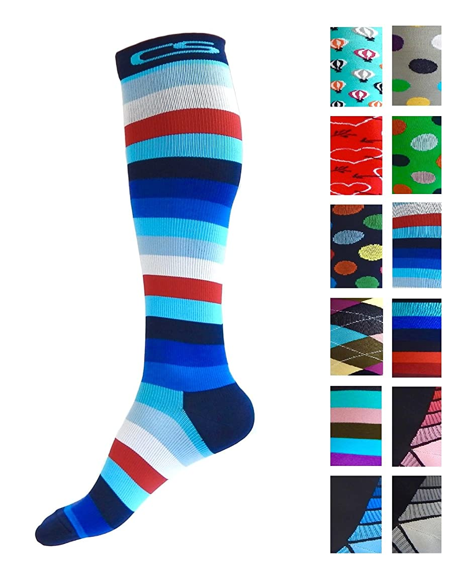 Compression Socks for Men & Women - Best Graduated Athletic Fit for Running, Nurses, Shin Splints, Flight Travel, Maternity Pregnancy - Boost Stamina, Circulation & Recovery