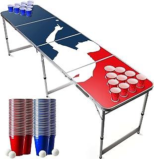 Pack Beer Pong Officiel Player   1 Table Beer Pong + 120 Cups (60 Blue & 60 Red) + 6 Balles   Kit Complet   Qualité Premiu...