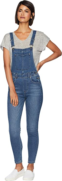 Slim Ankle Denim Overalls