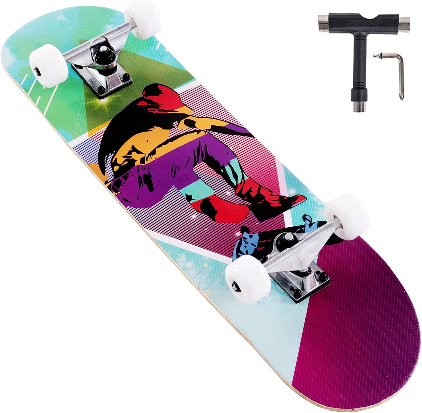 35% OFF Lamberia 31 Inch Skateboard Pro Complete B Girls for Los Angeles Mall
