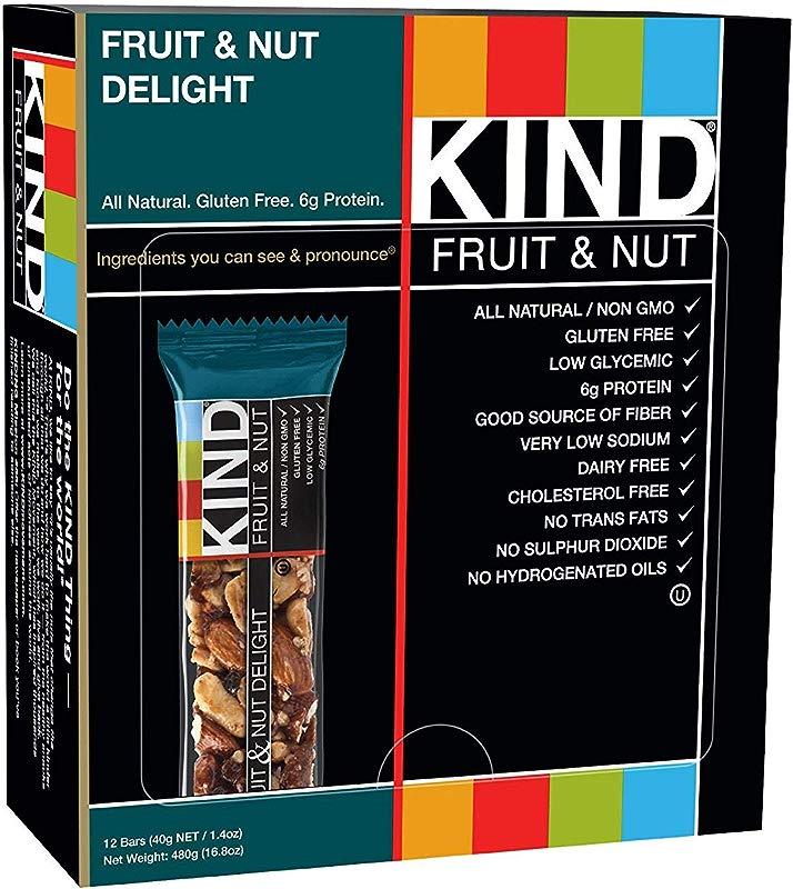 KIND Bars Fruit Nut Gluten Free Low Sugar 1 4oz 48 Bars KIND DJ