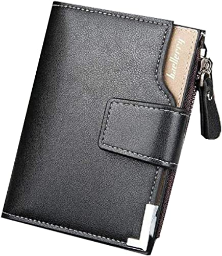 Di Grazia Black Italian Leather 2 Fold Multiple Card Slot Mens Wallet Card Cash Holder Black Black Mens Short Wallet