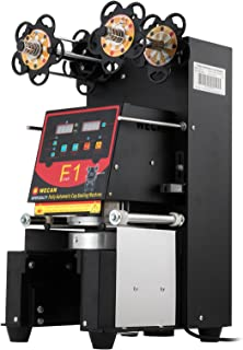 Happybuy 420W Automatic Cup Sealing Machine 500-650Cups Per Hour Electric Cup Sealer Machine With Digital Control for Sealing PP PET Paper Cups