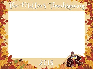 Fall Rustic Turkey Thanksgiving Photo Booth prop Sizes 36x24 48x36 Fall Leaves PhotoBooth Frame, Selfie frame, photo prop, Handmade Party Supply, Give Thanks, Fall Decor, Family reunion decorations