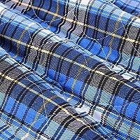 大人の布おむつ、3色再使用可能な大人の挿入物はさみ金の洗濯できる厚くなるより古い布おむつおむつ80 * 90 cm(Blue Plaid)