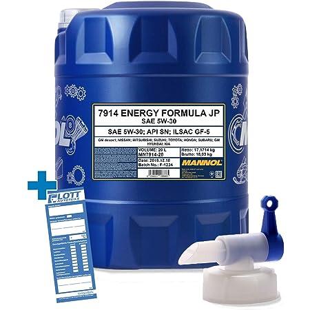 Mannol 20l Motoröl Energy Formula Jp 5w 30 Öl 5w30 Auslaufhahn Auto