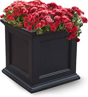 Mayne Fairfield 5825B Patio Planter, 20-Inch, Black (Renewed)