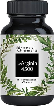 L-Arginin - 365 vegane Kapseln - 4500mg pflanzliches L-Arginin HCL pro Tagesdosis (= 3750mg reines L-Arginin) - Laborgeprüft, hochdosiert, vegan und hergestellt in Deutschland