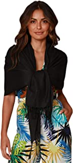 INGEAR Large Soft Silky Pashmina Shawl Wrap Scarf in Solid Colors