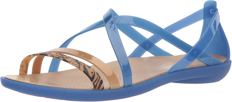Crocs Womens Isabella GRPH Strappy Sandal Flat Sandal