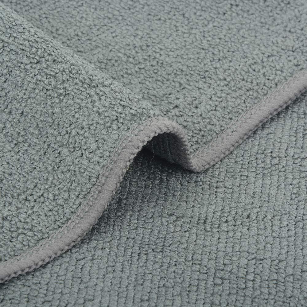 paquete de 9 unidades VIVOTE Pa/ño de limpieza de microfibra trapos de cocina multiusos sin pelusas color blanco gris y marr/ón 30,48 x 30,48 cm