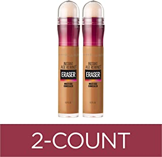 Maybelline Instant Age Rewind Eraser Dark Circles Treatment Multi-Use Concealer, Tan, 0.2 Fl Oz, 2 Count