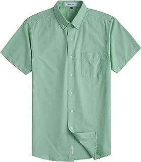 Men's Casual Oxford Short Sleeve Regular Fit Chest Pocket Dress Shirt