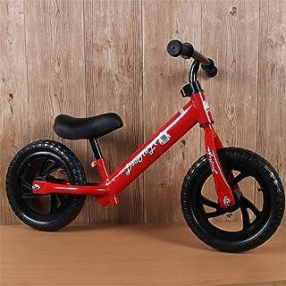 バランスバイクペダル自転車なし、子供たちに自転車の基本を教えるために設計されており、ペダル、頑丈なスチールフレーム、調節可能なシートの高さで自転車に移動,Red