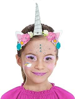 Almar Sales Company INC Unicorn Makeup Kit for Kids, Halloween Makeup, 10 Pieces
