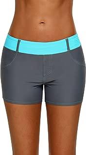 Piscina Colore Nero Ragazza Shorts KIRALOVE Pantaloncini da Bagno Donna Elasticizzati Spiaggia Mare Estate Coulotte