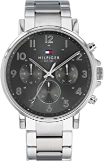 Tommy Hilfiger Daniel Men's Grey Dial Stainless Steel Band Watch - 1710382