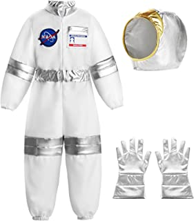 ReliBeauty Boys Girls Astronaut Costume Kids Space Jumpsuit