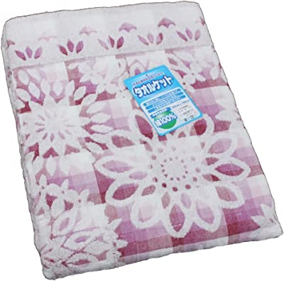 綿100% 快適タオルケット マドリード パープル シングルサイズ 140x190cm MO-21605-PU