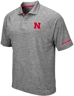 Mens Nebraska Cornhuskers Raglan Polo Shirt