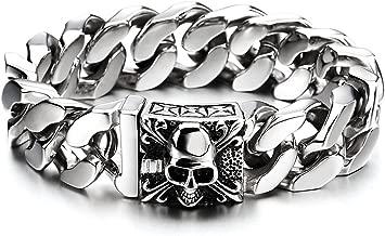 stainless steel biker bracelets