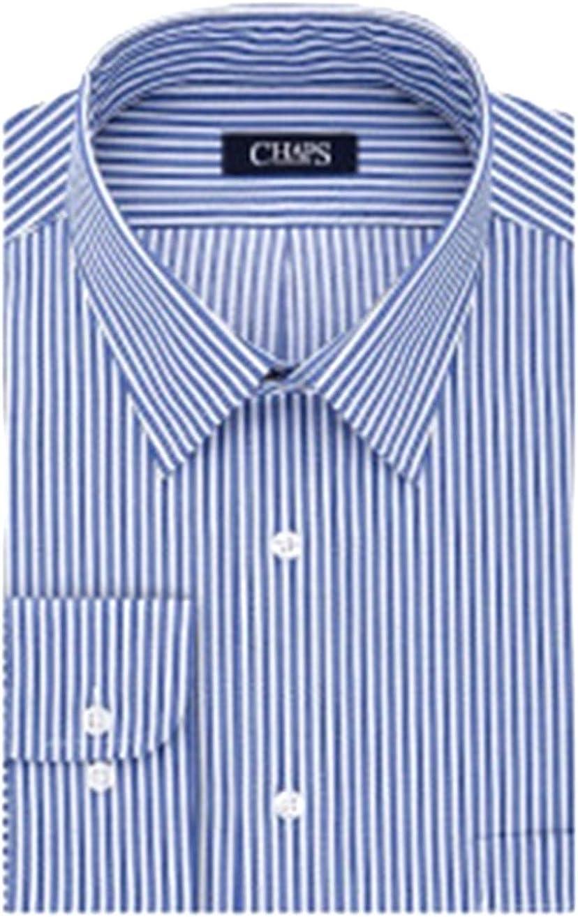 Chaps Men's Regular-Fit Stretch Collar Executive Dress Shirt Periwinkle Striped