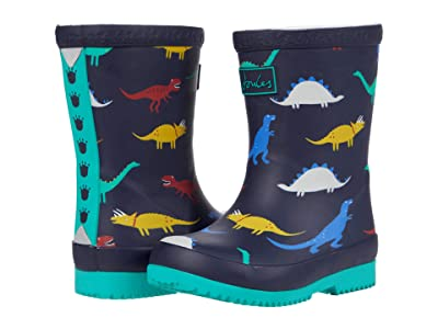 Joules Kids Welly Print (Toddler) (Navy Dinos) Boy
