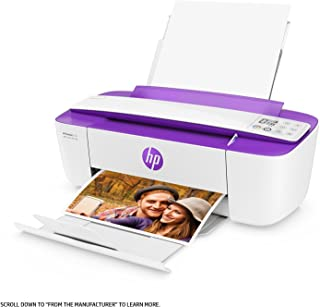HP DeskJet 3755 All-in-One Printer in White and Purple (Renewed)