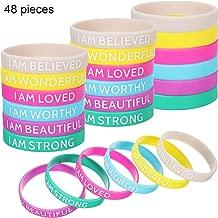 rubber message bracelets