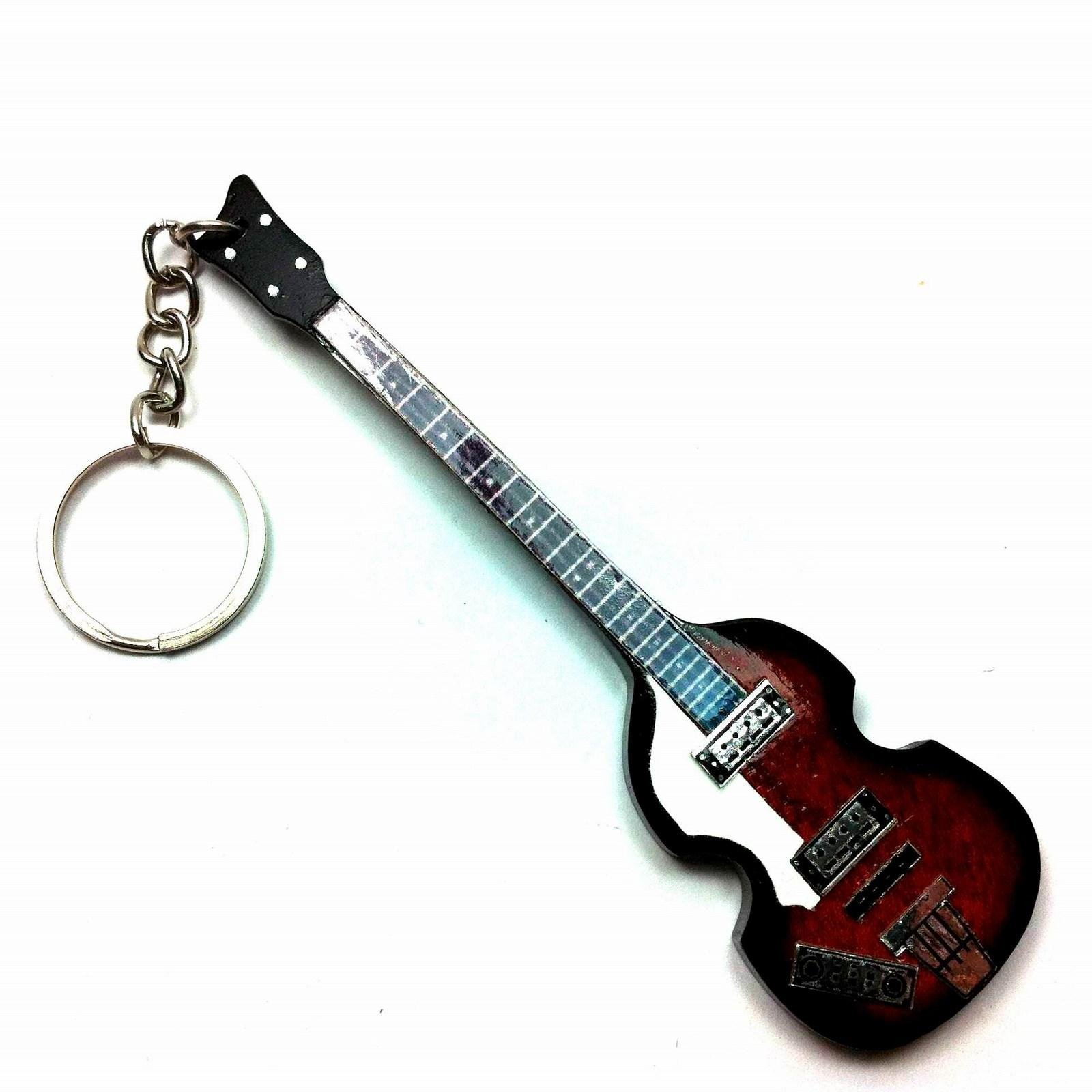 Llaveros de madera con forma de guitarra - The Beatles - Paul ...
