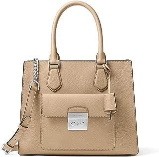 Women's Medium Bridgette Saffiano Leather Top-Handle Bag Tote