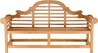 Teak Lutyens Outdoor Patio Double Bench, Made from Solid A-Grade Teak Wood