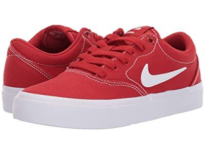 Nike Kids Charge Canvas (Big Kid) (Mystic Red/White) Boys Shoes