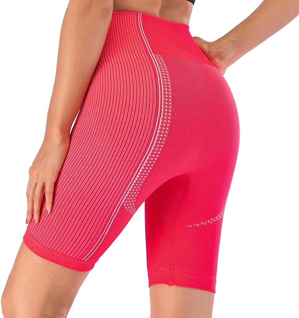 Women's Active Shorts High Waist Tummy Control Workout Running Lounge Shorts