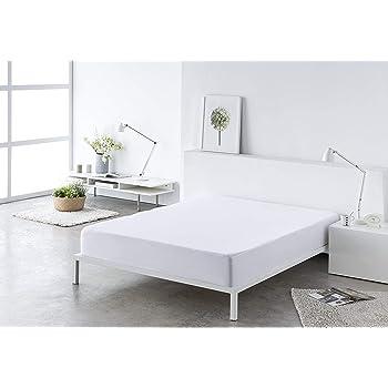 CONFORT HOME M.T. Sabana bajera LISA ajustable, elástica muy ligeras 100% algodón de verano (150_x_200_cm, Blanca): Amazon.es: Hogar