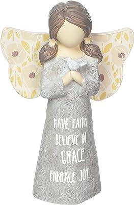 Pavilion Gift Company Have Faith Believe in Grace Embrace Joy Child Angel Figurine